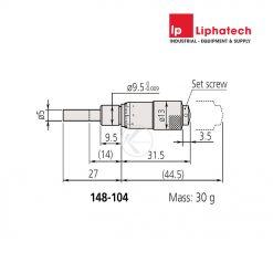 Mitutoyo 148-104 Đầu panme 0-13mm/0.01mm