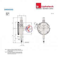 Đồng hồ so cơ khí 0-5mm x 0.001 Mitutoyo 2119S-10