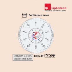 Đồng hồ so cơ khí 0-80mm x 0.01 Mitutoyo 3060S-19