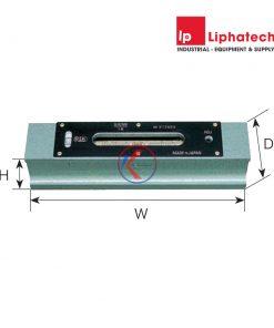 Nivo thanh 100mm độ nhạy 0.02mm/m - 542-1002 RSK