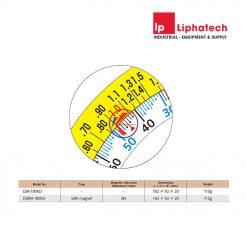 Nivo đồng hồ Niigata Seiki DSRM-180KD đo góc 180 độ có nam châm