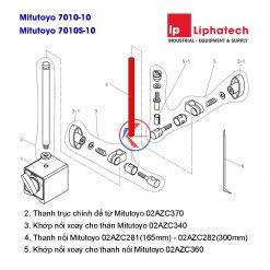 Thanh nối đế từ gá đồng hồ so 165mm Mitutoyo 02AZC281